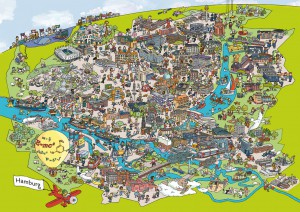 Carlsen und Wissenschaft Hamburg 2014 karte
