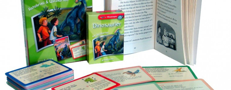 gondolino Dinosaurier Ratekrimi Quizkarten